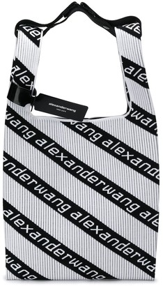 Alexander Wang Logo Stripe Shopper Tote
