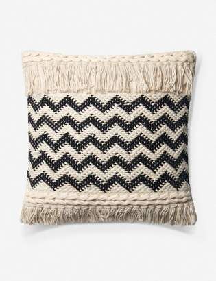 ED Ellen Degeneres Lulu And GeorgiaLulu & Georgia Roubaix Pillow, Natural and Black, Crafted by Loloi