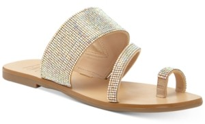 INC International Concepts Inc Gianolo Embellished Toe-Ring Flat Sandals, Created for Macy's Women's Shoes