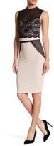 Trixxi Crepe & Lace Illusion Bodycon Dress
