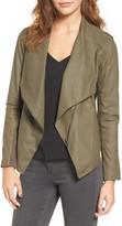 BB Dakota Women's 'Kenrick' Drape Neck Leather Jacket