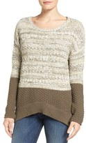 Caslon Colorblock Marl Knit Sweater (Regular & Petite)