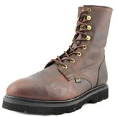 """Justin Boots Wk906 Steel Toe 8"""" Work Men Round Toe Leather Brown Work Boot."""