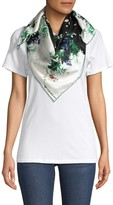 Givenchy Abstract Floral Silk Scarf