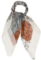 Hermes A Contre-Courant Silk Mousseline Scarf