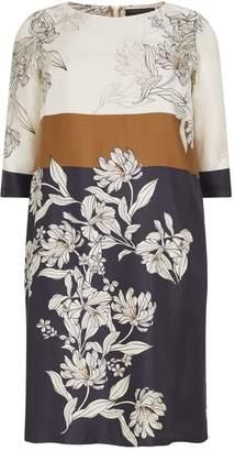 Marina Rinaldi Silk Floral Tunic Dress