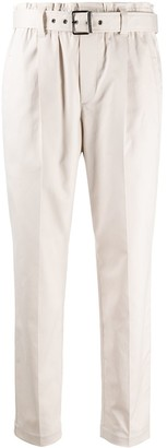 Brunello Cucinelli Paper-Bag Waist Cropped Trousers