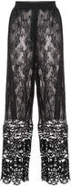 Anna Sui lace wide leg trousers