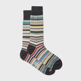 Paul Smith Men's Elephant Grey Signature Stripe Socks