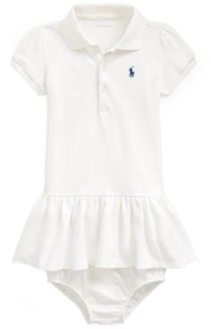 Polo Ralph Lauren Ralph Lauren Baby Girls Cotton Flag Polo Dress & Bloomer