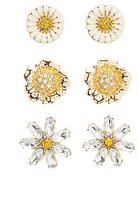 Charlotte Russe Flower Stud Earrings - 3 Pack