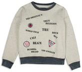 True Religion Boys' Stencil Screen & Appliquéd Signature Sweatshirt - Sizes 8-18