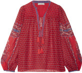 Ulla Johnson Amala Printed Silk-georgette Blouse - Red