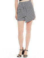Gianni Bini Reese Mini Tie Front Skirt