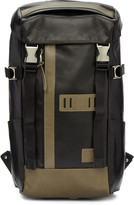 Master-piece Co Black Leather Over Backpack