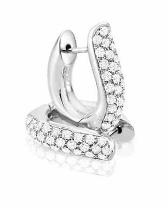 Tamara Comolli Pave Diamond Hoop Earrings in 18K White Gold