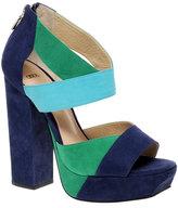 ASOS HAVEN Block Heel Suede Platform Sandals