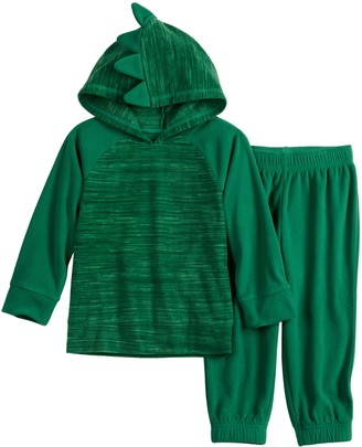 Toddler Boy Jumping Beans Microfleece Raglan Hoodie & Jogger Pants Set