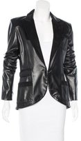 Barbara Bui Long Sleeve Leather Blazer
