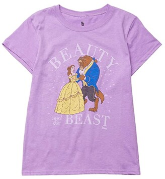 Junk Food Kids Disney Beauty The Beast T-Shirt (Little Kids/Big Kids) (Lavender) Girl's Clothing