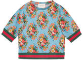 Gucci Children's floral print sweatshirt