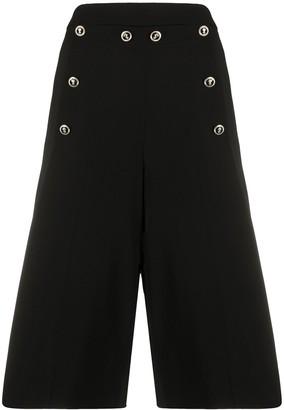 VIVETTA Embossed Button Shorts