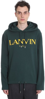 Lanvin Sweatshirt In Green Cotton