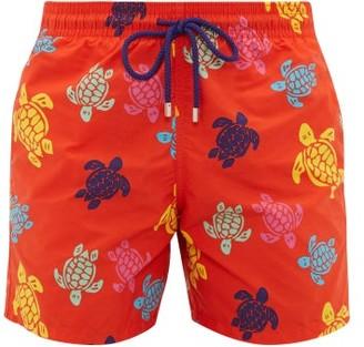 Vilebrequin Moorea Turtle-print Swim Shorts - Mens - Red Multi