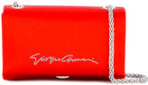 Giorgio Armani signature detail shoulder bag - women - Silk/Viscose - One Size