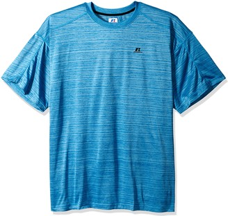Russell Athletic Men's Big and Tall Ss Dripower Heather Crew
