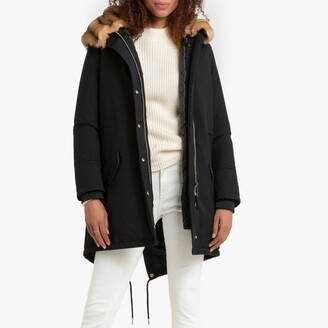 Schott Heat 2W Parka with Faux Fur Hood and Pockets