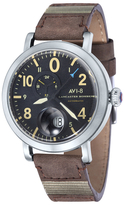 Lancaster Bomber Round Black Dial Watch, 48mm