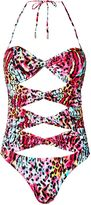 Matthew Williamson Rainbow Akita Animal Cutout Swimsuit
