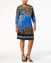 JM Collection Plus Size Keyhole Shift Dress, Created for Macy's