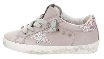 Golden Goose Girls' Superstar Suede Sneakers w/ Tags