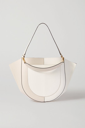 Wandler Mia Large Two-tone Leather Shoulder Bag - White