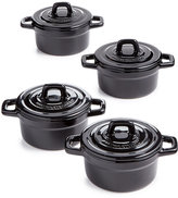 Martha Stewart Collection 4-Pc. Heirloom Ceramic Cocotte Set, Created for Macy's