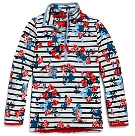Joules Girls' Printed Quarter-Zip Sweatshirt - Little Kid, Big Kid