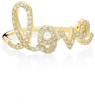 Sydney Evan 14K Yellow Gold & Diamond Large Love Ring