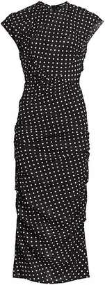 Rachel Comey Delirium Polka Dot Silk-Blend Sheath Dress