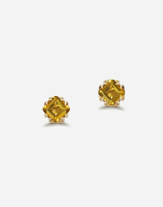 Dolce & Gabbana Anna Earrings In Yellow Gold With Citrine Quartzes