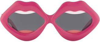 Linda Farrow Yazbukey lips sunglasses