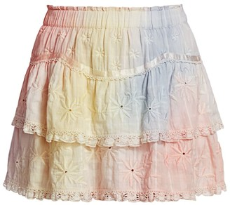 LoveShackFancy Tully Ruffle Mini Skirt