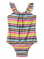 Gap Bright stripes flutter swim one-piece