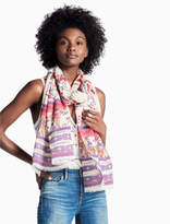 Lucky Brand Neon Lights Floral Scarf