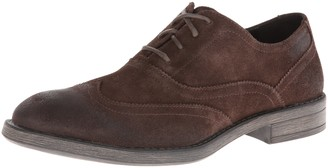 Andrew Marc Men's Vanderbilt Oxford Espresso/Black Suede 8 M US
