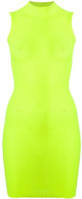 MSGM High-Neck Ribbed Bodycon Dress