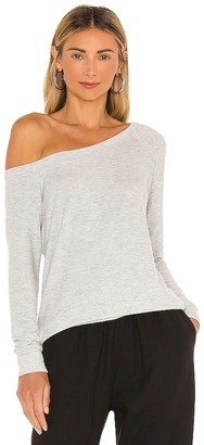 Enza Costa Easy Off The Shoulder Long Sleeve Top