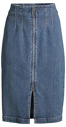 La Vie Rebecca Taylor LV Denim Midi Skirt