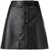 Courreges buttoned mini-skirt - women - Cotton/Polyurethane/Acetate/Cupro - 38
